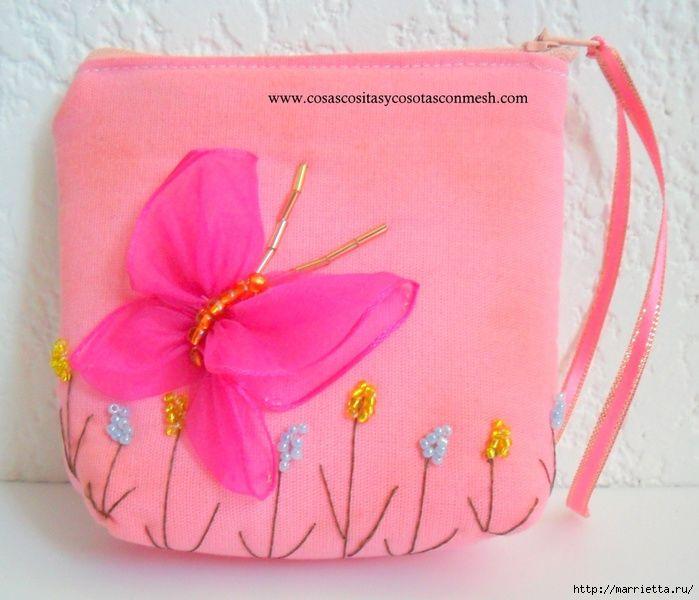 Как сделать из ткани сумку для девочки
