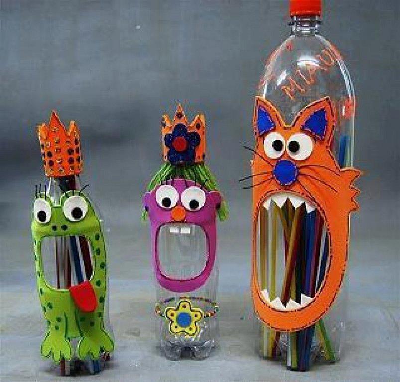 Карандашница из пластиковых бутылок своими руками